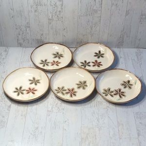 Pier 1 Salad Plates Petals set of 5